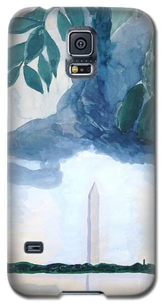 Galaxy S5 Case featuring the painting Washington Monument by Rod Ismay