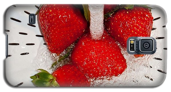 Galaxy S5 Case featuring the photograph Water For Strawberries by David Pantuso