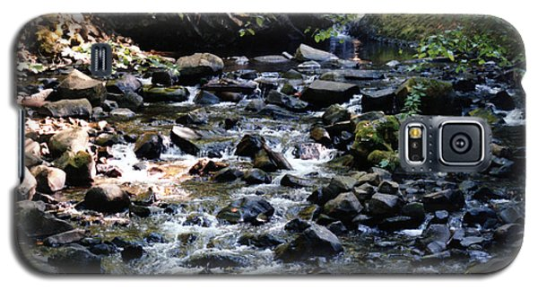 Galaxy S5 Case featuring the photograph Water Over Rocks by Maureen E Ritter