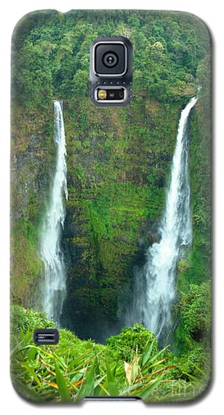 Galaxy S5 Case featuring the photograph waterfall in Laos by Luciano Mortula