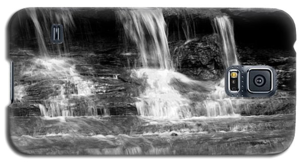 Waterfall Trio At Mcconnells Mill State Park In Black And White Galaxy S5 Case