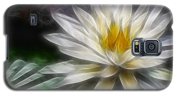 Galaxy S5 Case featuring the digital art Waterlily In Pseudo-fractal by Lynne Jenkins