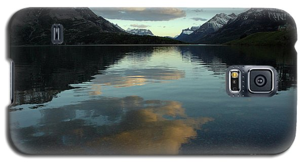 Galaxy S5 Case featuring the photograph Waterton Lake Sunset Canada by Vivian Christopher