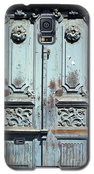 Galaxy S5 Case featuring the photograph Weathered Quito Door Ecuador by John  Mitchell