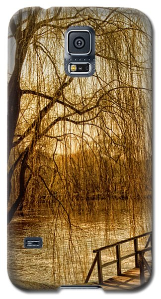 Weeping Willow And Bridge Galaxy S5 Case by Barbara Middleton