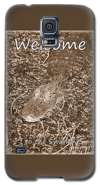Welcome To The Swamp - Sepia Galaxy S5 Case by Carol Groenen