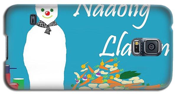 Galaxy S5 Case featuring the digital art Welsh Snowman Chef by Barbara Moignard