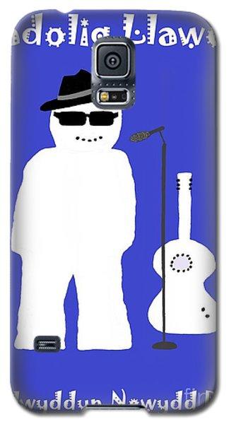 Galaxy S5 Case featuring the digital art Welsh Snowman Musician by Barbara Moignard