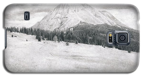 Galaxy S5 Case featuring the drawing West Spanish Peak by Joshua Martin