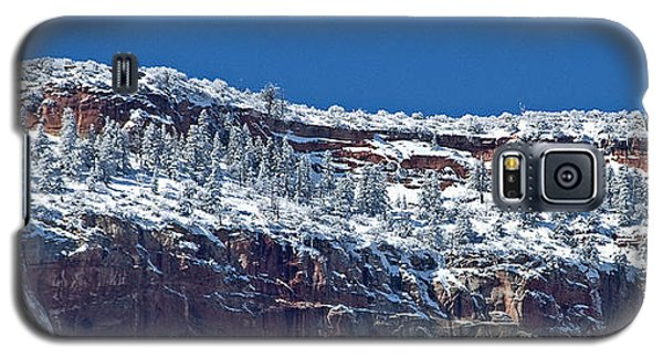 Galaxy S5 Case featuring the photograph West Temple Detail 2 by Bob and Nancy Kendrick