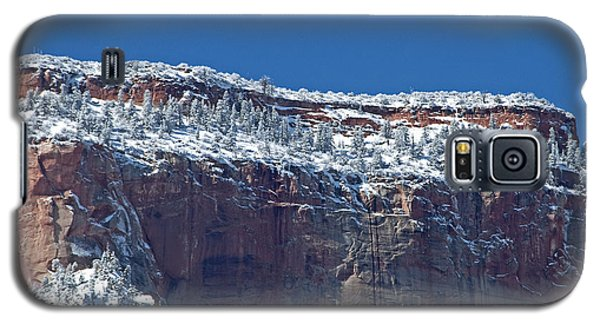 Galaxy S5 Case featuring the photograph West Temple Detail by Bob and Nancy Kendrick