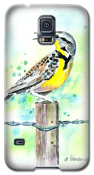 Western Meadowlark Galaxy S5 Case by Arline Wagner