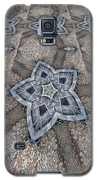 Galaxy S5 Case featuring the digital art Western Star Tile by Michelle Frizzell-Thompson