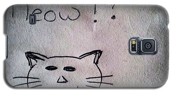 Follow Galaxy S5 Case - What My Room Mates Draw! #cat #drawing by Abdelrahman Alawwad