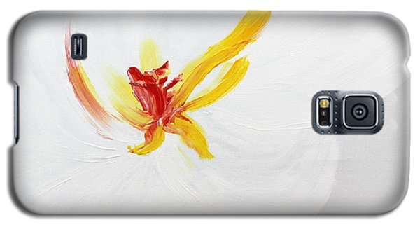 White Flower Galaxy S5 Case by Kume Bryant