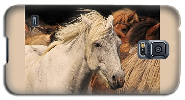 White Icelandic Horse Galaxy S5 Case