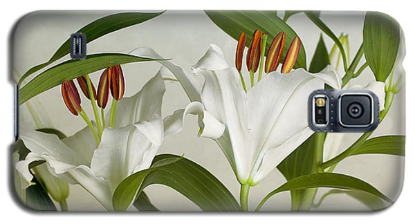 Lily Galaxy S5 Case - White Lilies by Nailia Schwarz