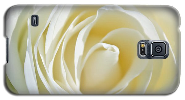 Galaxy S5 Case featuring the photograph White Rose by Ann Murphy