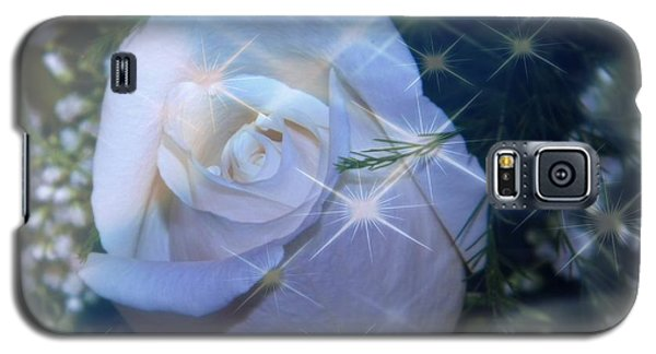 Galaxy S5 Case featuring the photograph White Rose by Michelle Frizzell-Thompson