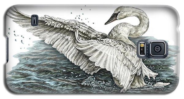 White Swan - Dreams Take Flight-tinted Galaxy S5 Case