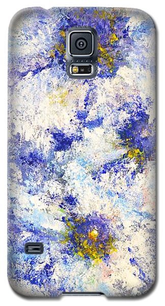 Galaxy S5 Case featuring the painting White Wild Roses by Kathleen Pio