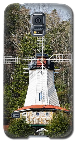 Galaxy S5 Case featuring the photograph White Windmill by Susan Leggett