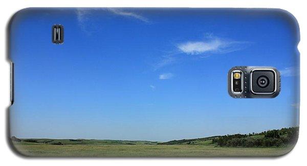 Wide Open Alberta Prairies Galaxy S5 Case by Jim Sauchyn