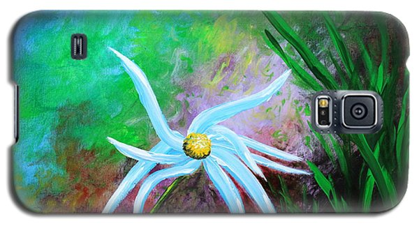 Galaxy S5 Case featuring the painting Wild Daisy 2 by Kume Bryant
