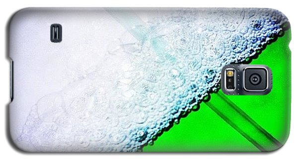 Food And Beverage Galaxy S5 Case - Wild Green Fiendy Liquid by Mark B