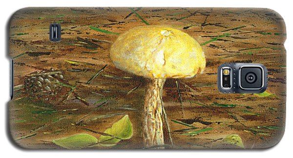 Galaxy S5 Case featuring the painting Wild Mushroom On The Forest Floor by Judy Filarecki