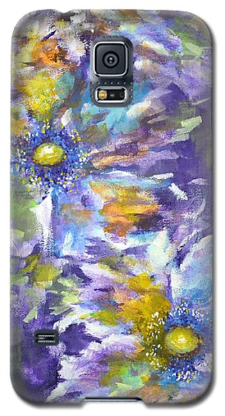 Galaxy S5 Case featuring the painting Wild Purple Roses by Kathleen Pio