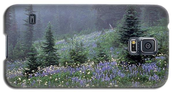 Wildflower Meadow Mt Rainier Galaxy S5 Case