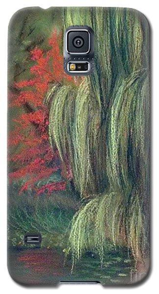 Galaxy S5 Case featuring the drawing Willow Tree - Hidden Lake Gardens -tipton Michigan by Yoshiko Mishina