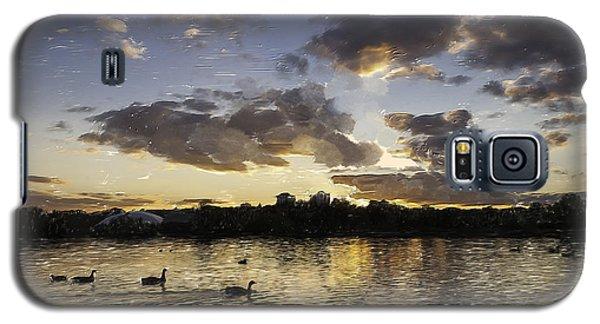Galaxy S5 Case featuring the digital art Wimbledon Sunset by Matt Malloy