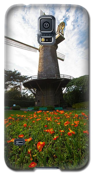Windmill And Poppies Galaxy S5 Case