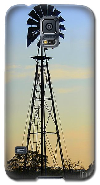 Galaxy S5 Case featuring the photograph Windmill At Dusk by Kathy  White