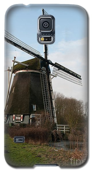Galaxy S5 Case featuring the digital art Windmill In Amsterdam by Carol Ailles