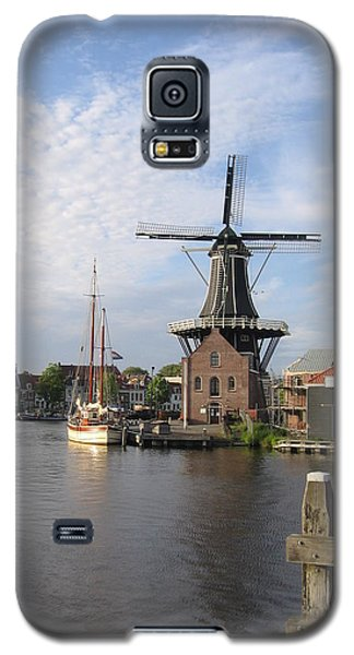 Galaxy S5 Case featuring the photograph Windmill In The Nederlands by Karen Molenaar Terrell
