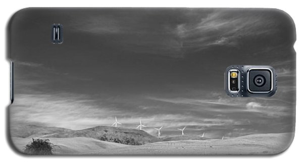 Galaxy S5 Case featuring the photograph Windmills In The Distant Hills by Kathleen Grace