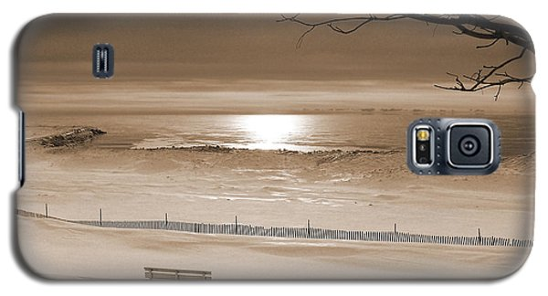 Winter Beach Morning Sepia Galaxy S5 Case