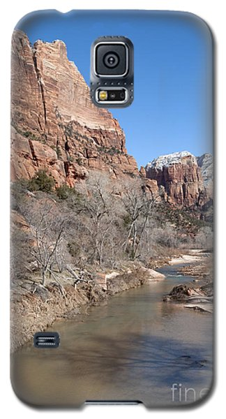 Galaxy S5 Case featuring the photograph Winter In Zion 2 by Bob and Nancy Kendrick