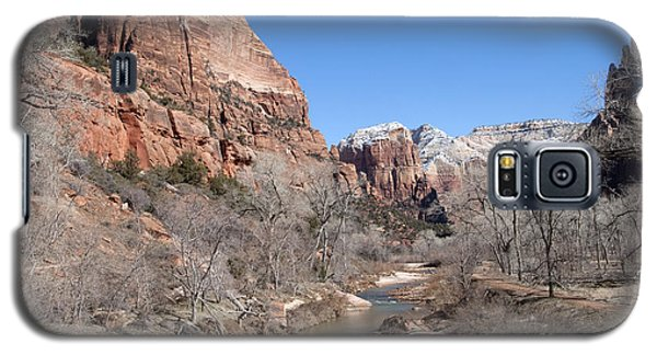 Galaxy S5 Case featuring the photograph Winter In Zion by Bob and Nancy Kendrick