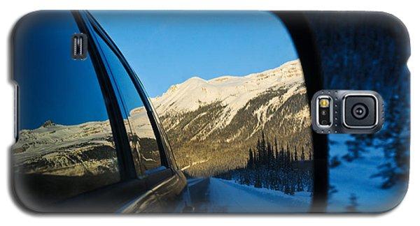 Winter Landscape Seen Through A Car Mirror Galaxy S5 Case