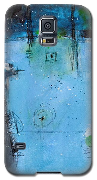 Galaxy S5 Case featuring the painting Winter by Nicole Nadeau