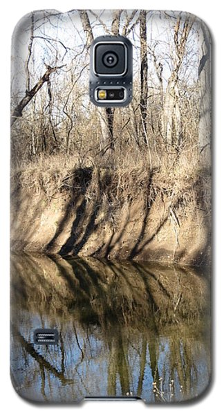 Winter River Reflections Galaxy S5 Case by Rebecca Overton