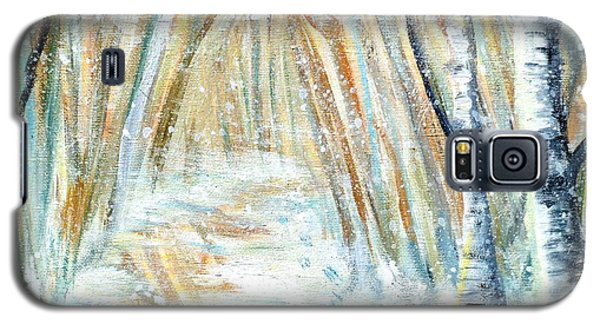 Galaxy S5 Case featuring the painting Winter by Shana Rowe Jackson