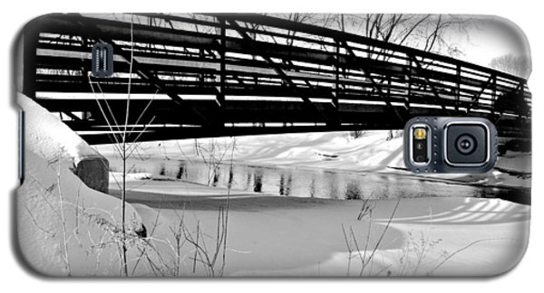 Galaxy S5 Case featuring the photograph Winter Splendor In B And W by Janice Adomeit