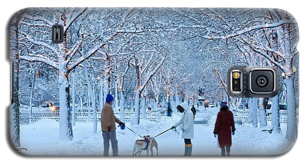 Galaxy S5 Case featuring the photograph Winter Twilight Walk by Susan Cole Kelly