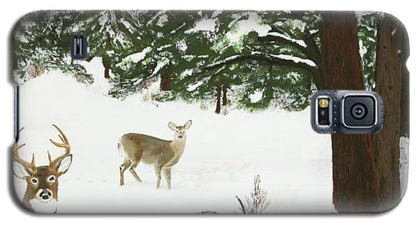 Wintering Whitetails Galaxy S5 Case