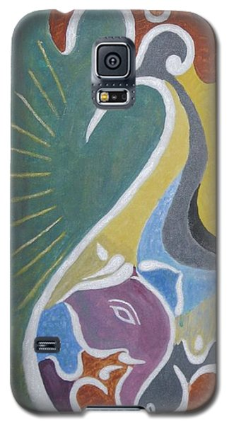 Galaxy S5 Case featuring the painting Wisdom And Peace by Sonali Gangane